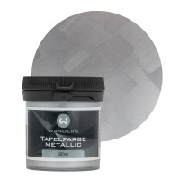 Tafelfarbe Metallic-Silber Probe 80ml