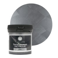Tafelfarbe Metallic-Grau Probe 80ml