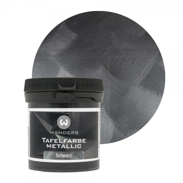 Tafelfarbe Metallic-Schwarz Probe 80ml