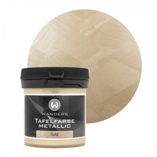 Tafelfarbe Metallic-Gold Probe 80ml