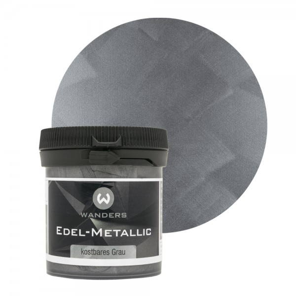 Edel-Metallic Probe kostbares Grau 80ml