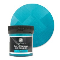 Tafelfarbe Metallic-Türkis Probe 80ml